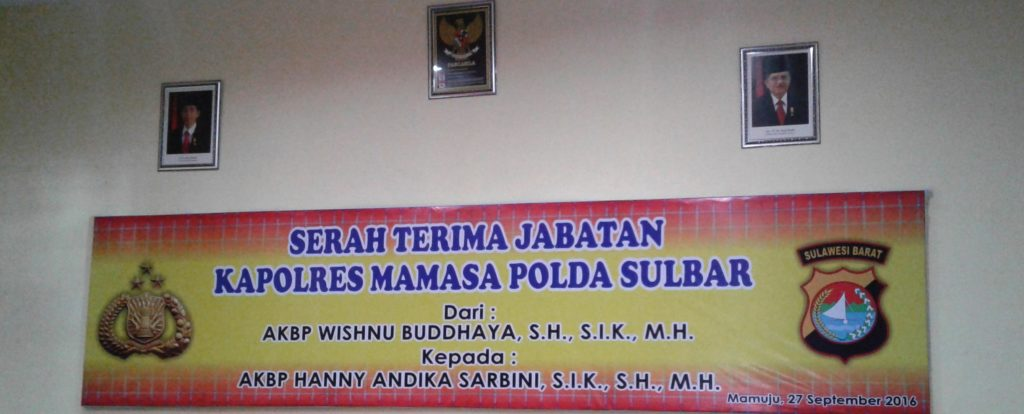 Tempat acara Sertijab Kapolres Mamasa itu dilangsungkan. (Foto: Zulkifli Darwis)